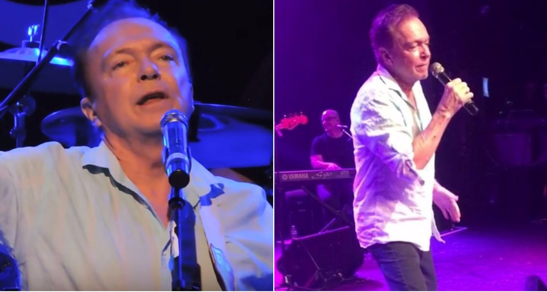 David Cassidy slurs his words, forgets lyrics, hits self with mic and tumbles over during gig two days before going public with dementia diagnosis