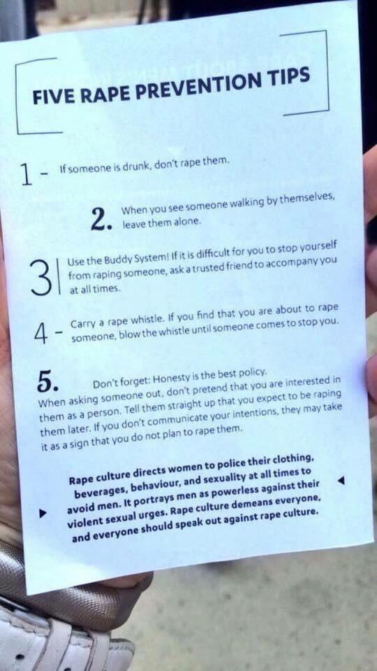 Five rape prevention tips that everyone should follow