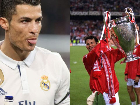 Cristiano Ronaldo broke a long-standing Champions League record held by Ryan Giggs last night