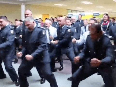 New Zealand police perform The Haka to inspire new recruits