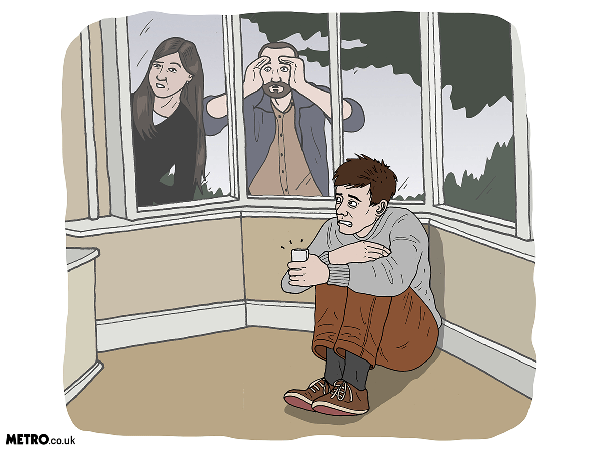 ILLUSTRATION REQUEST: Having social anxiety doesn't mean you're a bad friend Credit: Dave Anderson for Metro.co.uk