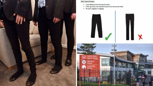 More than 75 pupils sent home for 'too tight' trousers