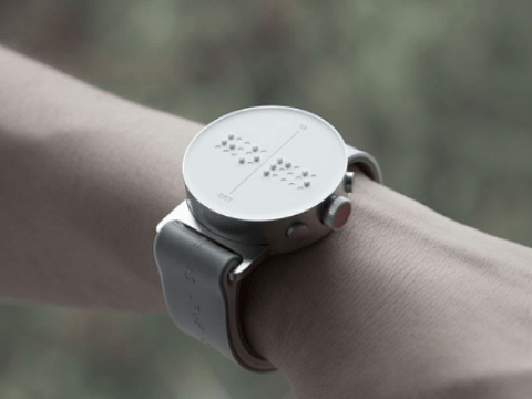 There's now a braille watch which lets you feel the time