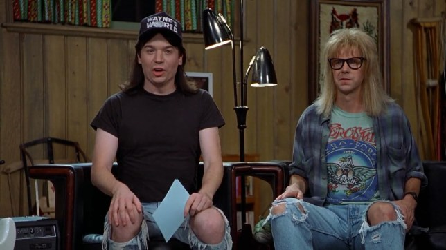 It's Wayne#'s World's anniversary. Party time, excellent (Picture: Paramount Pictures)