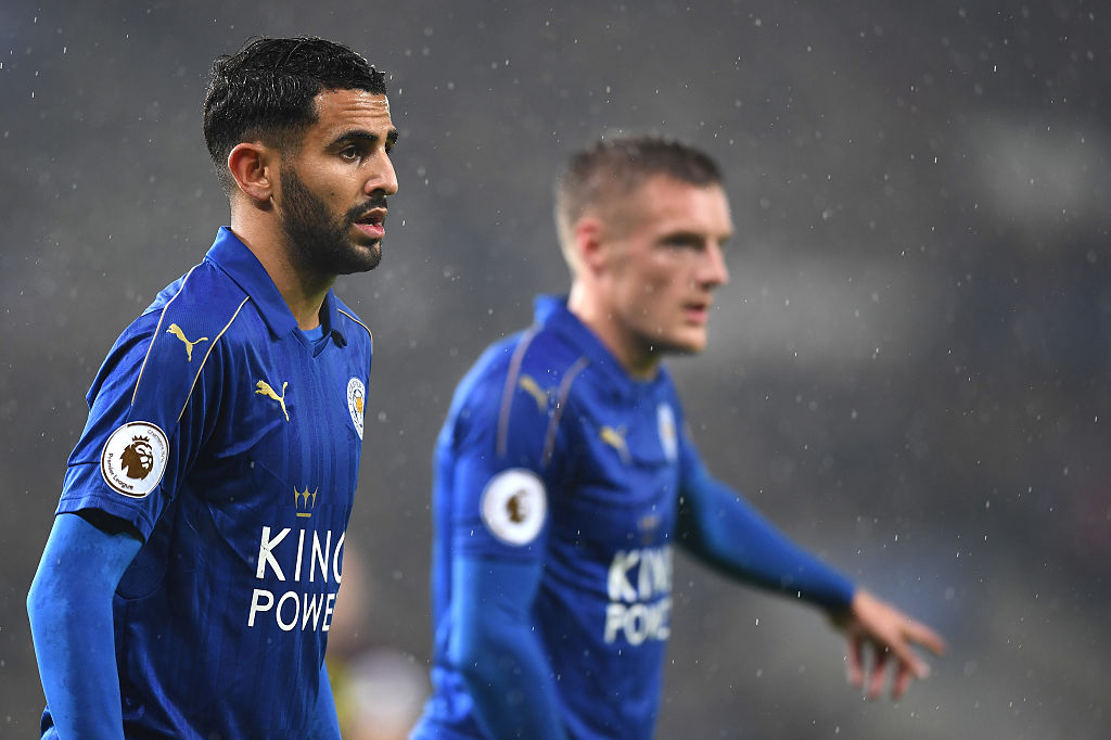 during the Premier League match between Leicester City and Manchester City at the King Power Stadium on December 10, 2016 in Leicester, England.