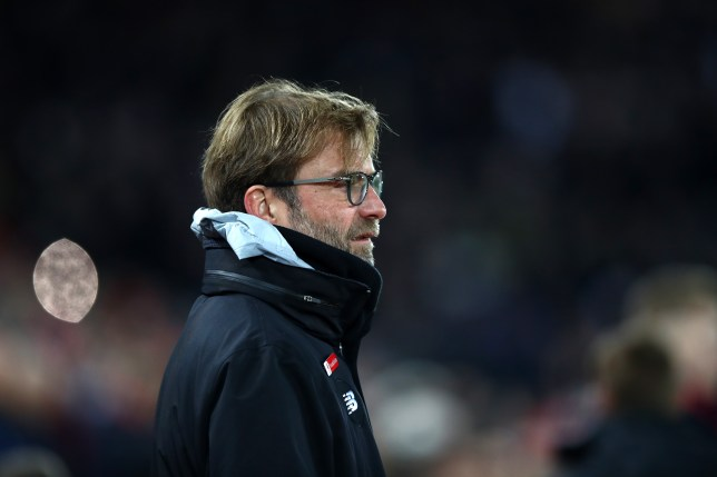 LIVERPOOL, ENGLAND - FEBRUARY 11: Jurgen Klopp, Manager of Liverpool looks on prior to the Premier League match between Liverpool and Tottenham Hotspur at Anfield on February 11, 2017 in Liverpool, England. (Photo by Clive Brunskill/Getty Images)