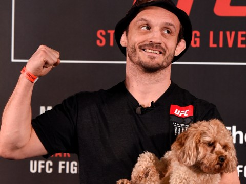 Bonnie, Brad Pickett's dog, steals the show at UFC London media day