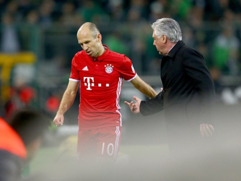 Arjen Robben had a tantrum and his Bayern Munich team-mates found it hysterical