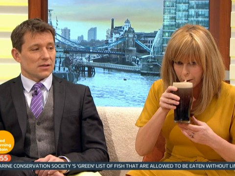 Kate Garraway gets in St Patrick's Day spirit by drinking pint of Guinness before 7am