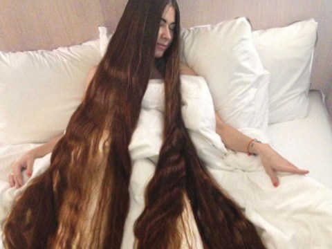 Fall in love with this real-life Rapunzel whose hair is over 7 feet long