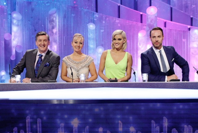Television Programme: Dancing On Ice: The Skate Off with Robin Cousins, Karen Barber, Ashley Roberts and Jason Gardiner. From ITV Studios DANCING ON ICE 2014 Starts Sunday 5th January 2014 on ITV Pictured: Dancing On Ice 2014 Judges Robin Cousins, Karen Barber, Ashley Roberts and Jason Gardiner The final series of Dancing on Ice will be an All Stars special celebrating the very best of its celebrity skaters from it's entire run. The 9th series which starts in the New Year, will be the last of the glittering ice skating competition and it promises to go out with a bang. Previous show winners will want to retain their title, runners up will have old scores to settle and show favourites will want to wow viewers with their very best on the ice. Phillip Schofield and Christine Bleakley will be rink-side to preside over all the action and the Judges will be on hand to deliver their verdicts. Olympic skating superstars Jayne Torvill and Christopher Dean will return one final time to help train our celebrities. This year the legendary sporting duo will also be celebrating the 30th anniversary of their Olympic Bolero win during the show s run. ITV Photographer Nicky Johnston For further information please contact Peter Gray 0207 157 3046 peter.gray@itv.com This photograph is ITV and can only be reproduced for editorial purposes directly in connection with the programme Dancing On Ice or ITV. Once made available by the ITV Picture Desk, this photograph can be reproduced once only up until the Transmission date and no reproduction fee will be charged. Any subsequent usage may incur a fee. This photograph must not be syndicated to any other publication or website, or permanently archived, without the express written permission of ITV Picture Desk. Full Terms and conditions are available on the website www.itvpictures.com