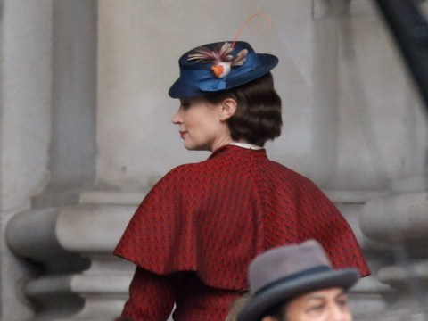 Emily Blunt looks supercalifragilistic as she begins filming for Mary Poppins Returns in London