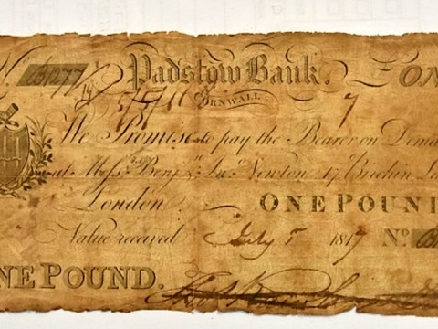 200-year-old bank note returned to museum decades after it was stolen