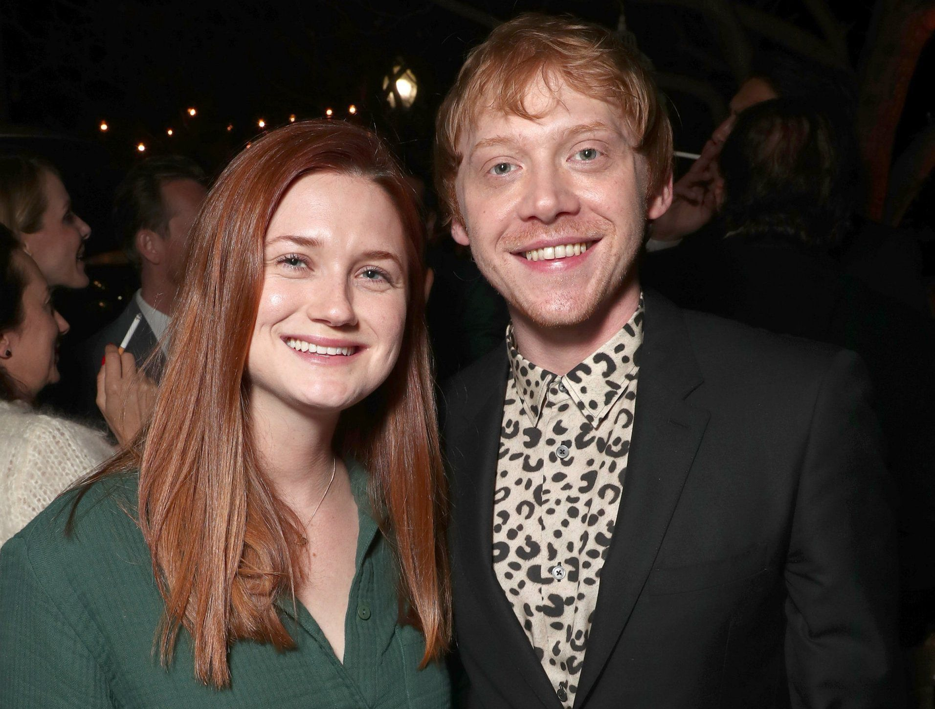 The Weasleys reunited as Rupert Grint is supported by on screen sister Bonnie Wright at Snatch screening