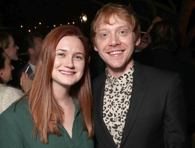 "CULVER CITY, CA - MARCH 09: Bonnie Wright and Rupert Grint attend the after party for the premiere screening of Crackle's ""Snatch"" at Arclight Cinemas Culver City on March 9, 2017 in Culver City, California. (Photo by Todd Williamson/Getty Images)"