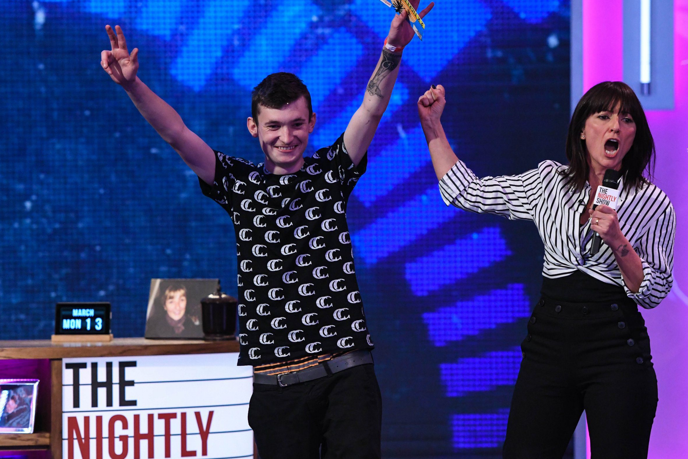Davina McCall and The Nightly Show help a man trying to lose his virginity