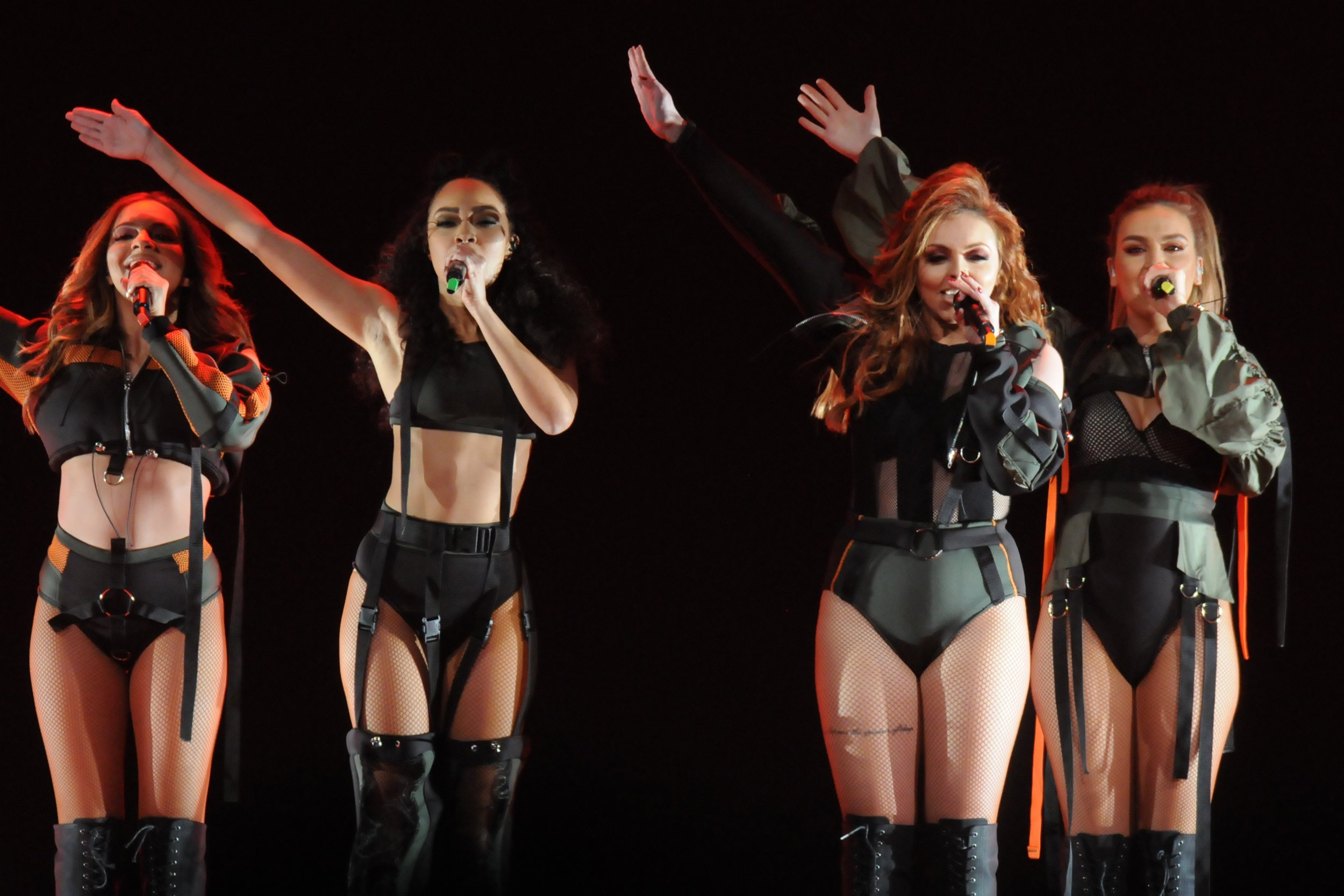 Little Mix kiss goodbye to split rumours as they slay on stage after Jesy Nelson puts 'feud' bullsh*t to bed