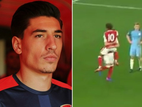 Carl Jenkinson scores last-gasp equaliser for Arsenal U23s in front of Arsene Wenger and Hector Bellerin