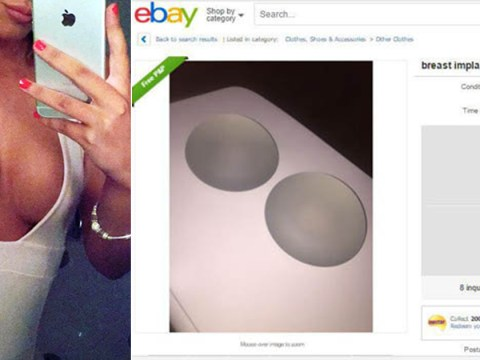Woman is selling her breast implants on eBay 'because they're the wrong size'