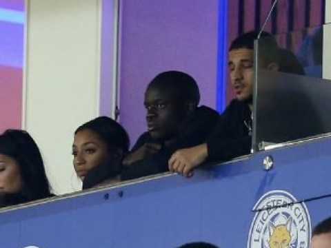 N'Golo Kante spotted celebrating Leicester's win over Sevilla in the stands