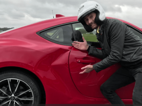 David Tennant accidentally dented his car on Top Gear and it was hilarious