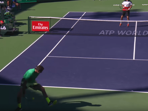 Juan Martin del Potro pulls off insane 'hot-dog' lob at Indian Wells