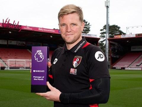 Eddie Howe named Premier League Manager of the Month as Antonio Conte misses out on record