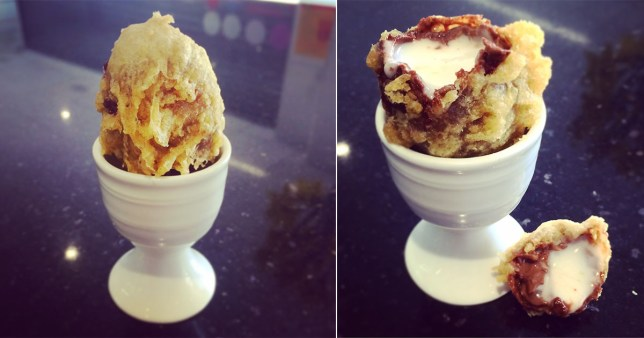 It's no yoke - you can get a deep fried Cadbury's Creme Egg in Cheltenham (Simpson?s Fish & Chips)