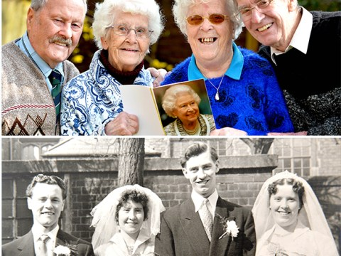 80-year-old twins who married on the same day celebrate their 60th anniversaries