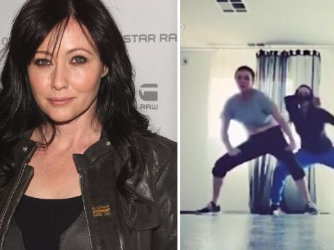 Shannen Doherty shows off amazing dance moves just days after chemotherapy finishes