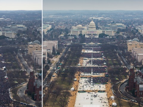 Official Trump and Obama inauguration pictures released showing true crowd size