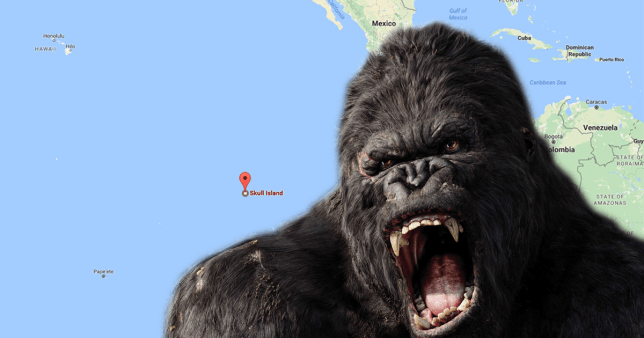 King Kong's Skull Island has been added to Google Maps
