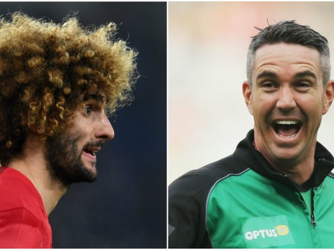 Former England star Kevin Pietersen trolls Manchester United's Marouane Fellaini during FA Cup clash against Chelsea