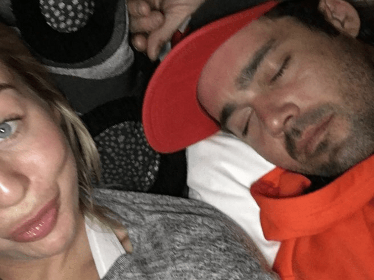 Lydia Bright posts cosy selfie with Spencer Matthews following his win on The Jump