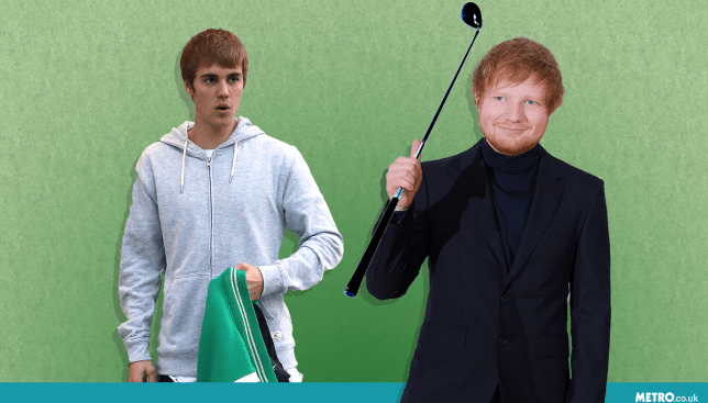 Ed Sheeran 'got drunk and hit Justin Bieber in the face with a golf club' picture: REX/Getty - Credit: Myles Goode