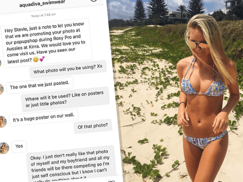 This bikini model was 'slut-shamed' for feeling self-conscious about a photo