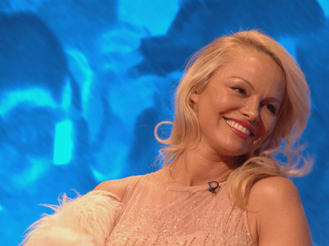 No, Pamela Anderson didn't 'storm off' Celebrity Juice but she did waddle off stage like a penguin to stars' surprise