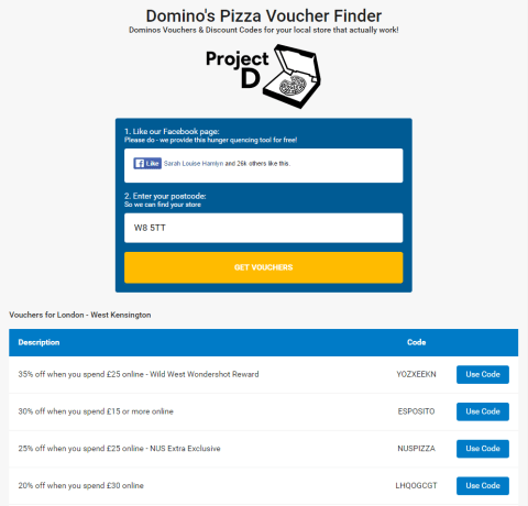 Dominos Discount Codes For Every Uk Pizza Store Have Leaked