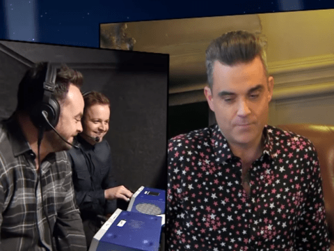 Robbie Williams blasts former bandmates Take That in Ant & Dec's Saturday Night Takeaway sketch
