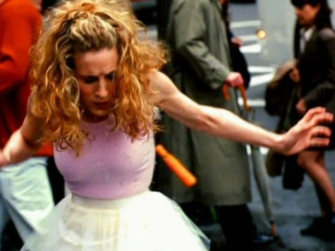 Watch alternate Sex And The City opening credits where Carrie Bradshaw survives that pesky puddle but there's no tutu