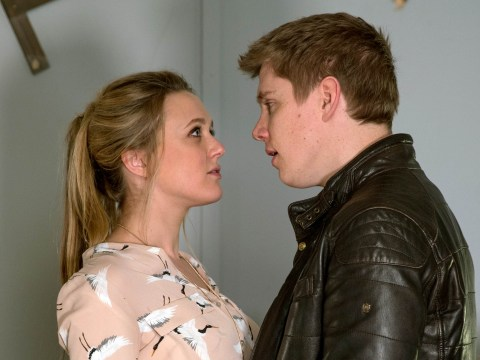 Emmerdale spoilers: Rebecca White rejects Robert Sugden as he tries to kiss her