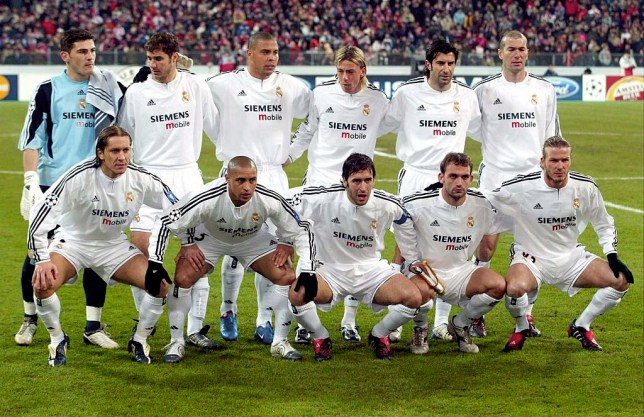 9f4a7058a In 2003 04 Real Madrid came out on top in their last-16 meeting. Just look  at that Real Madrid team! (Getty)