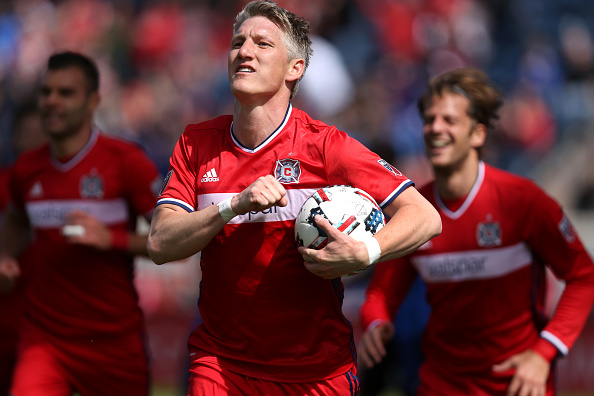 Watch: Bastian Schweinsteiger scores just 17 minutes into Chicago Fire debut