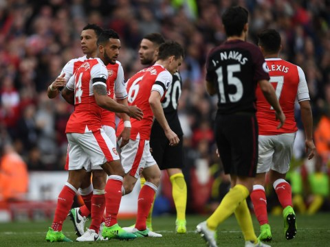 Gary Neville surprised by Arsenal players' lack of celebration after Theo Walcott equaliser v Manchester City