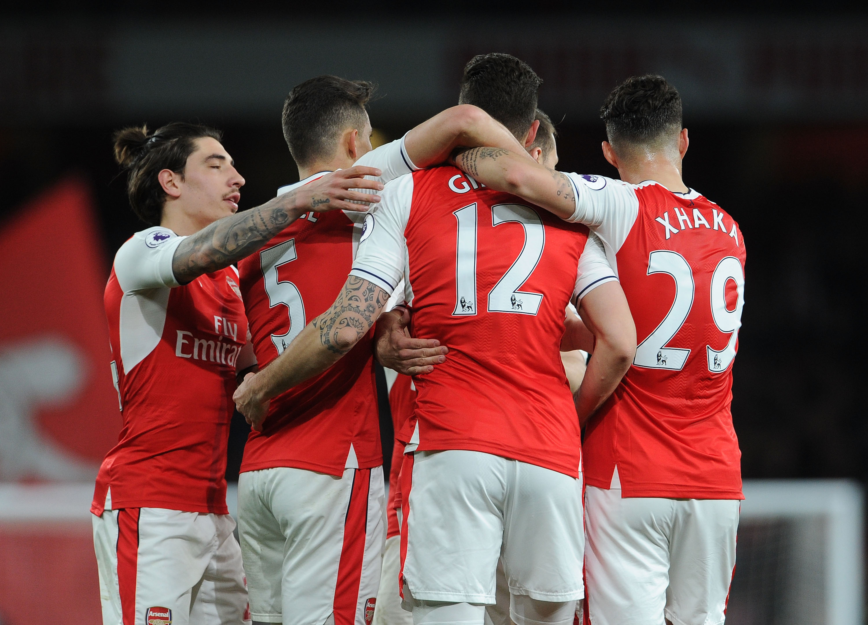 Arsenal become first Premier League team to score 100 goals after 3-0 win v West Ham