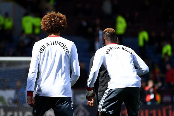 Rio Ferdinand reacts to Man Utd players wearing Zlatan Ibrahimovic and Marcos Rojo t-shirts