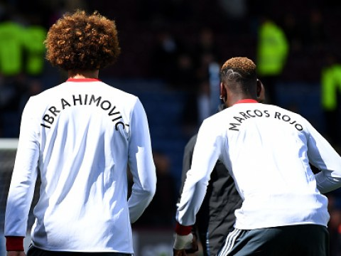 Rio Ferdinand reacts to Man Utd players wearing Zlatan Ibrahimovic and Marcos Rojo t-shirts