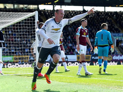 Wayne Rooney draws level with Frank Lampard and Andy Cole with goal v Burnley