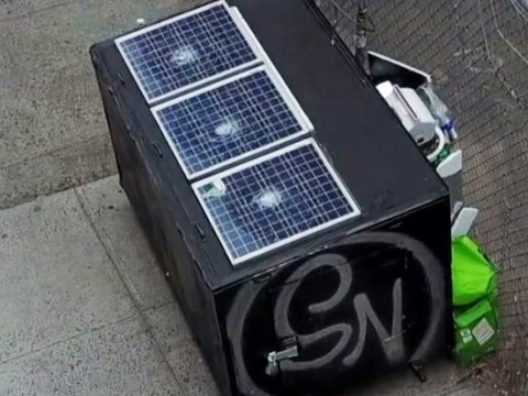 Homeless man lives in 'state-of-the-art' box disguised as dumpster