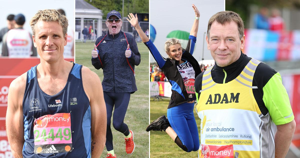 What were the London Marathon 2017 celebrities' finish times?